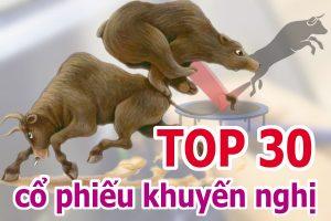 TOP 30 cổ phiếu mạnh và những cổ phiếu khuyến nghị ngày 17/05